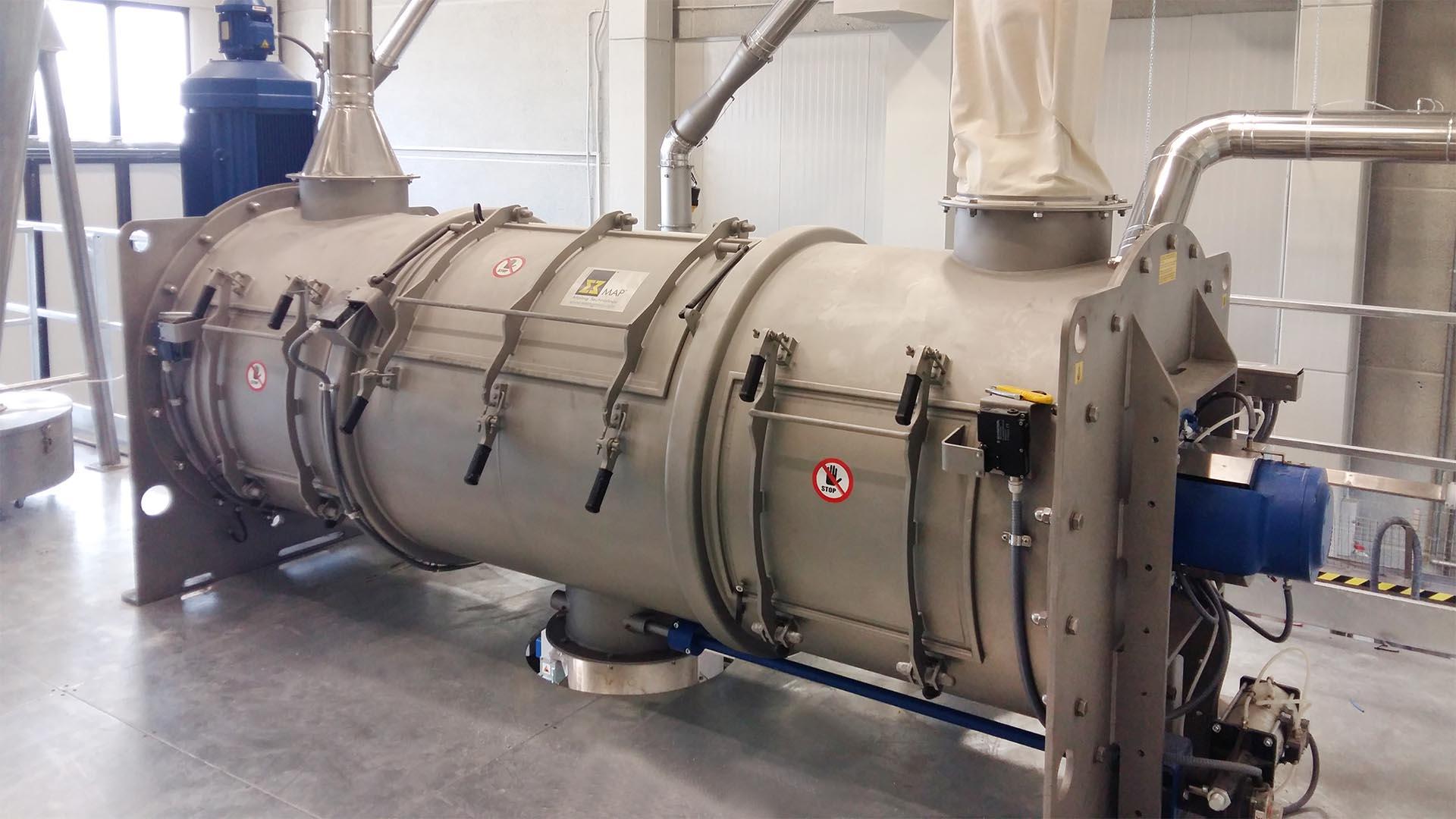 Chargenmischer WBH 3000 für die Mehlherstellung in Schweden